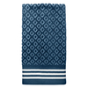 Colordrift Diamond 16-in x 26-in Blue Cotton Hand Towel