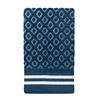 Colordrift Diamond 11-in x 18-in Blue Cotton Fingertip Towel