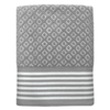 Colordrift Diamond 27-in x 52-in Gray Cotton Bath Towel