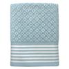 Colordrift Diamond 27-in x 52-in Aqua Cotton Bath Towel