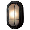 Portfolio 8.27-in Black Outdoor Flush-Mount Light