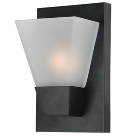 Portfolio 5-1/2-in W 1-Light Matte Black Pocket Wall Sconce