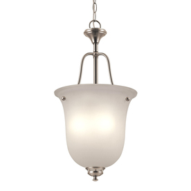 Project Source Fallsbrook 12-in Brushed Nickel Single Pendant