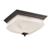 Portfolio 12-5/8-in W Bronze Ceiling Flush Mount