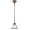 Project Source 6-7/8-in W Tavern Brushed Nickel Mini Pendant Light with Frosted Shade