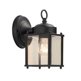 Portfolio 8.25-in H Black Outdoor Wall Light