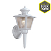 Portfolio 13-1/2-in White Outdoor Wall Light