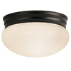 Project Source 9-1/4-in W Dark Oil Rubbed Bronze Ceiling Flush Mount