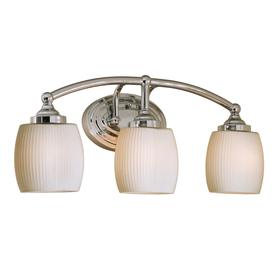 Style Selections 3-Light Calpin Chrome Bathroom Vanity Light