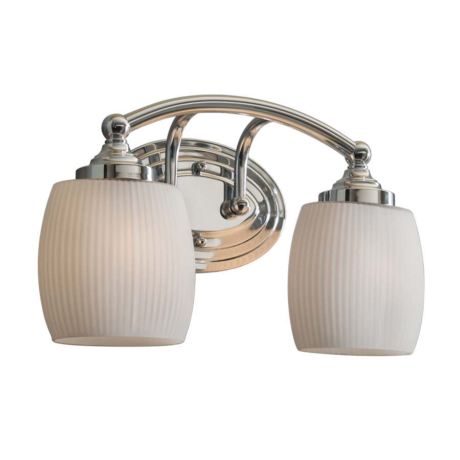 Shop Style Selections 2 Light Calpin Chrome Bathroom Vanity Light At