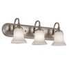 Portfolio 3-Light Brushed Nickel Bathroom Vanity Light