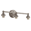 Portfolio 3-Light D&C Brushed Nickel Bathroom Vanity Light