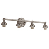 Portfolio 4-Light D&C Brushed Nickel Bathroom Vanity Light