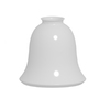 5.35-in x 5.47-in Shiny Opal Glass Bell Lamp Shade
