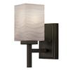 Portfolio 4.49-in W 1-Light Bronze Arm Hardwired Wall Sconce