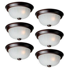 Project Source 6-Pack 10-in W Bronze Ceiling Flush Mount Lights