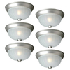Project Source 6-Pack 10-in W Painted Brushed Nickel Ceiling Flush Mount Lights