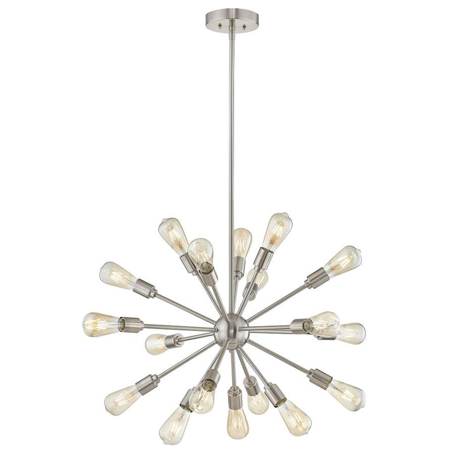 shop style selections 18 light brushed nickel chandelier at. Black Bedroom Furniture Sets. Home Design Ideas