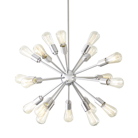 Style Selections 18-Light Brushed Nickel Chandelier
