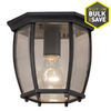 Portfolio 7.68-in W Matte Black Outdoor Flush-Mount Light