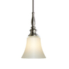 allen + roth 6.46-in W Brushed Nickel Mini Pendant Light with Frosted Glass Shade