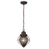 Portfolio 8.98-in Oil-Rubbed Bronze Mini Clear Glass Pendant