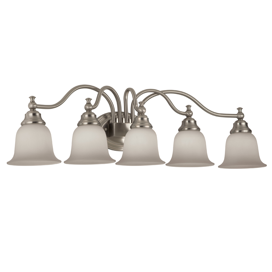 Bathroom Vanity Lights Kijiji : Shop Portfolio 5-Light Brandy Chase Brushed Nickel Bathroom Vanity Light at Lowes.com