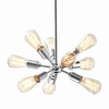 Style Selections Grayford 19.69-in Brushed Nickel Mini Pendant