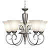 Portfolio Lillyburne 5-Light Brushed Nickel Chandelier