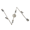 Style Selections 6-Light 73.25-in Brushed Nickel and Chrome Fixed Track Light Kit