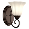 Portfolio 6.89-in W 1-Light Oil-Rubbed Bronze Arm Hardwired Wall Sconce