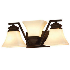 Shop Allen Roth 3 Light Oil Rubbed Bronze Bathroom Vanity Light At