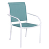 Style Selections Driscol White Sling Seat Steel Stackable Patio Dining Chair
