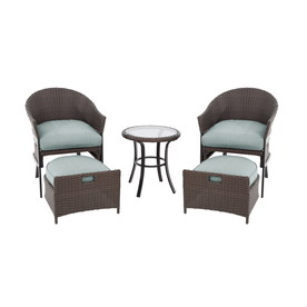 Garden Treasures 5Pc South Point Brown Steel Patio Conversation Set