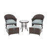 Garden Treasures 5-Piece South Point Patio Conversation Set
