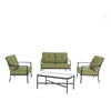Garden Treasures 4-Piece Withrow Hall Patio Conversation Set