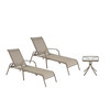 Garden Treasures Driscol Brown Steel Stackable Chaise Lounge Chair