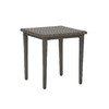 allen + roth Hayton 20-in x 20-in Gray Extruded Aluminum Square Patio End Table