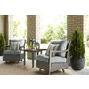 allen + roth Set of 2 Hayton Gray Aluminum Woven Patio Spring Motion Chairs
