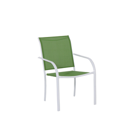 Garden Treasures Pagosa Springs White Sling Steel Stackable Patio Dining Chair