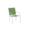 Garden Treasures Pagosa Springs White Steel Stackable Patio Dining Chair