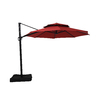 Garden Treasures Red Offset Patio Umbrella (Common: 10.5-ft W x 10.5-ft L; Actual: 10.5-ft W x 10.5-ft L)