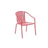 Garden Treasures Red Slat Seat Steel Stackable Patio Dining Chair