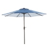 Garden Treasures Blue Stripe Market Patio Umbrella (Common: 9-ft W x 9-ft L; Actual: 9-ft W x 9-ft L)