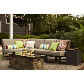 shop garden treasures palm city 5 piece steel patio conversation set at