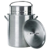 Kamp Kitchen 100-Quart Aluminum Stock Pot with Lid with Basket