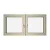 Eurowindows Group 72-1/2-in x 36-in Tilt and Turn Series 2-Lite Vinyl Triple Pane Replacement Casement Window