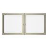 Eurowindows Group 96-1/2-in x 48-in Tilt and Turn Series 2-Lite Vinyl Triple Pane Replacement Casement Window