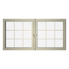 Eurowindows Group 96-1/2-in x 48-in Tilt and Turn Series 2-Lite Vinyl Double Pane Replacement Casement Window