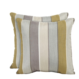 allen + roth Set of 2 Sunbrella Dawn UV-Protected Square Outdoor Decorative Pillows